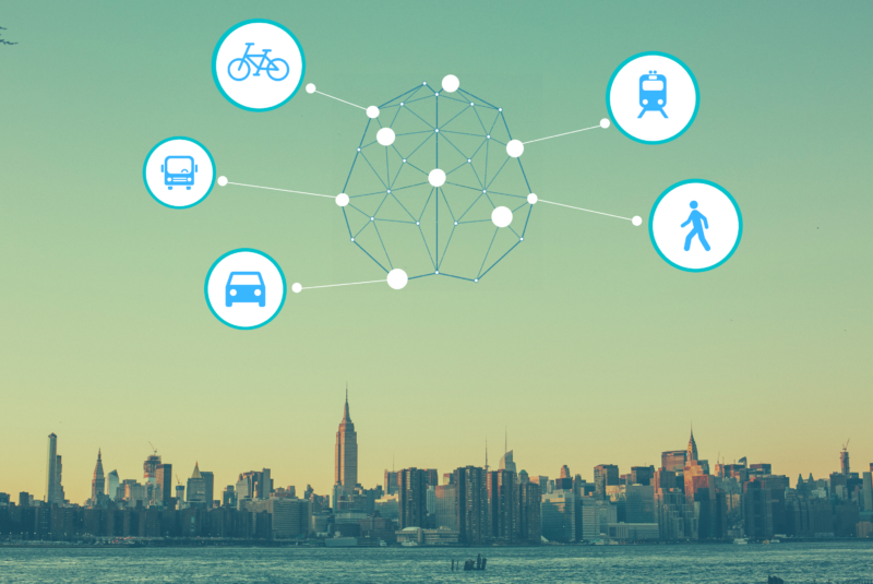 AI for mobility and CO2 emissions predictions at StraTopo